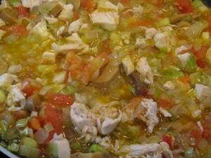 Πιπεριές γεμιστές με κοτόπουλο μανιτάρια και πράσο