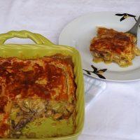 Αγγλική πίτα με σελινόριζα, πράσα και μανιτάρια