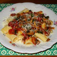 Ιταλικά paccheri  με σάλτσα μανιταριών